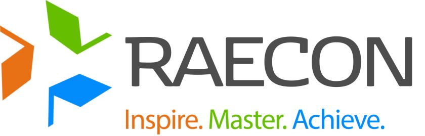 RAECON Logo with Tagline Colour Process